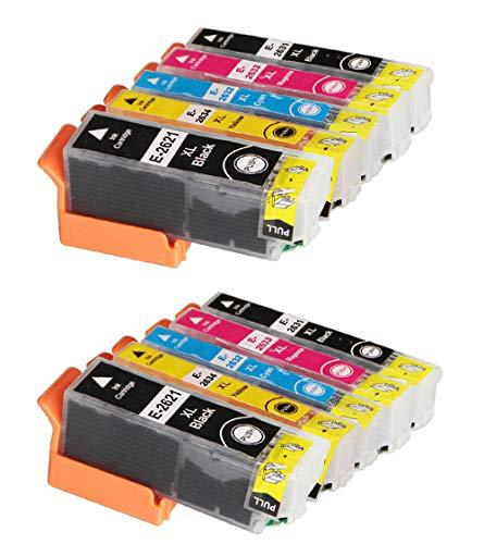 Welookdo - Cartuchos de tinta para Epson 26 26XL, compatibles con Epson Expression Premium XP-510, XP-520, XP-600, XP-605, XP-610, XP-615, XP-620, XP-625, XP-700, XP-710, XP-720, XP-800, XP810 y XP820