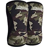 Murgs Knee Sleeves Pair 7mm Compression Sleeve for Support in Crossfit, Weightlifting, Squats, Powerlifting, Knee brace for Men/Women (Camo, Medium)