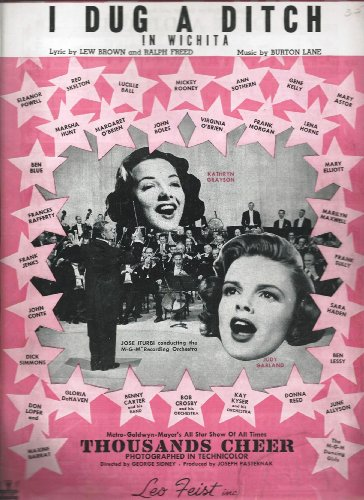 I Dug A Ditch In Wichita- Sheet Music With Judy Garland On The Cover