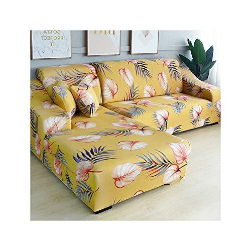 HGblossom L-Form (Kaufen Sie 2 Stück) Ecksofabezug elastisch für das Wohnzimmer Bedruckter Bezug für Sofabezüge Stretch 1/2/3/4 Sitz Farbe 9 2 Sitzer und 3 Sitzer