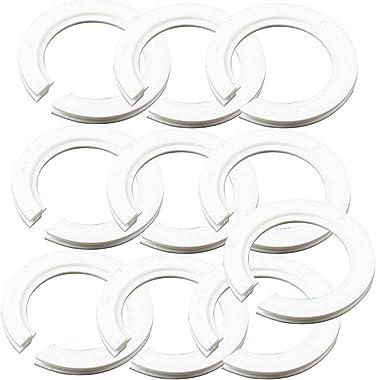 Lot de 10 anneaux convertisseurs en plastique pour abat-jour, E27 à E14 pour fixer les abat-jours à vis Edison sur les douill
