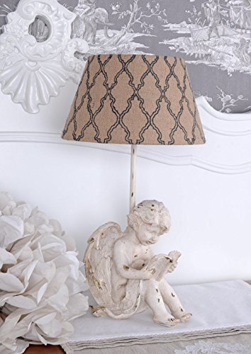 Vintage Lampe Engel Tischleuchte Amor Tischlampe Shabby Chic cw136 Palazzo Exclusiv