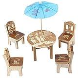 Las palabras de buen augurio impresas Arbolada Craft Table Silla Decoración Set 6 en 1