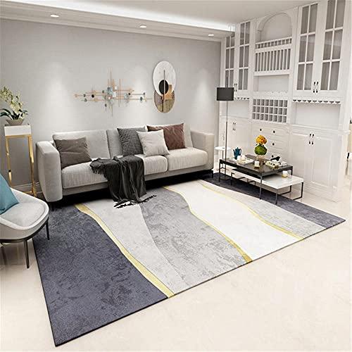 Alfombra Verano Accesorios de decoración de alfombras de Sala de Estar de diseño de Graffiti Minimalista Amarillo Gris Adornos para Salon Modernos alfombras Decorar la habitacion del Bebe 60*160cm
