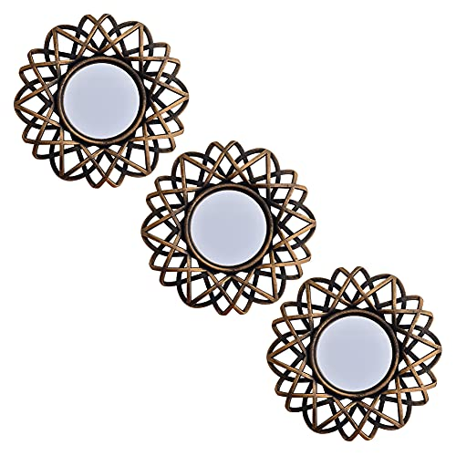 Small Wall Mirrors Decorative Set of 3 | Round Mirrors for Wall Decor Bedroom Living Room | Circle Mirror Wall Decor | Decorative Mirrors