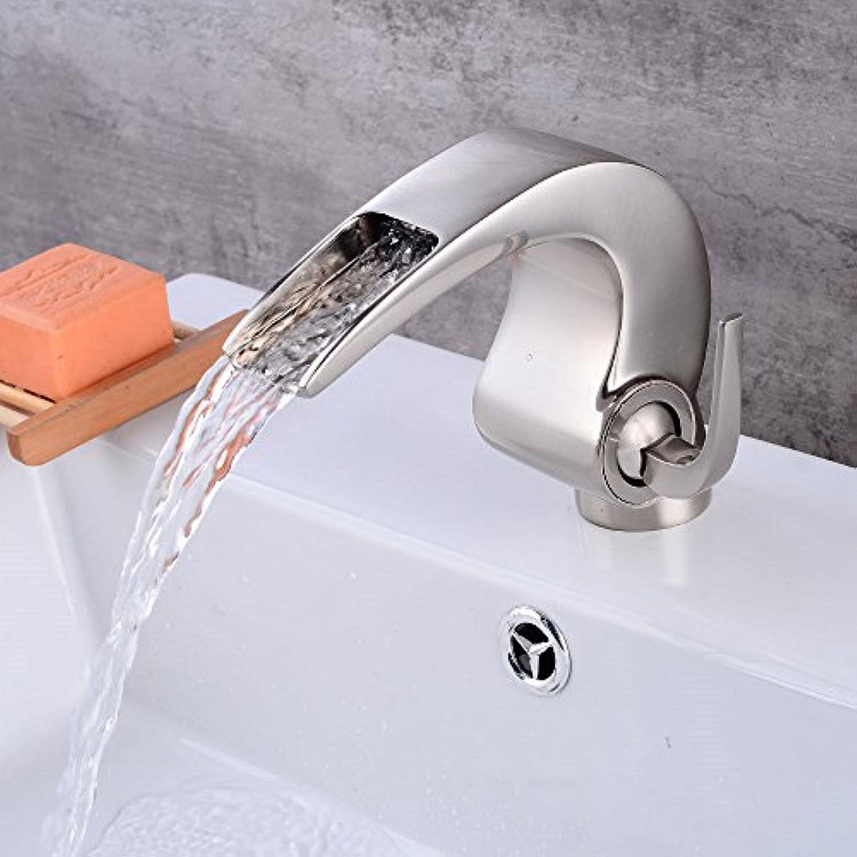 S-LENHY Wasserhahn Retro-Vollkupfer Wasserhahn Bad kreative Heimat an Bord Waschbecken Wasserhahn schwarz Wasserhahn, B-Schublade unter Aufsatzbecken Kaskade