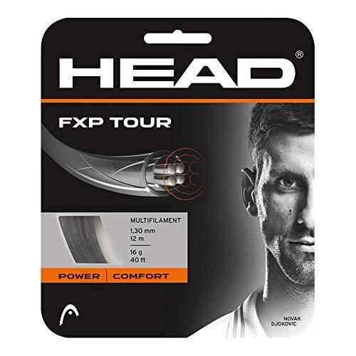 HEAD FXP Tour 16g Black Tennis 8 Pack String Set (Best String for Reduced Vibrations, Increased Dampening)