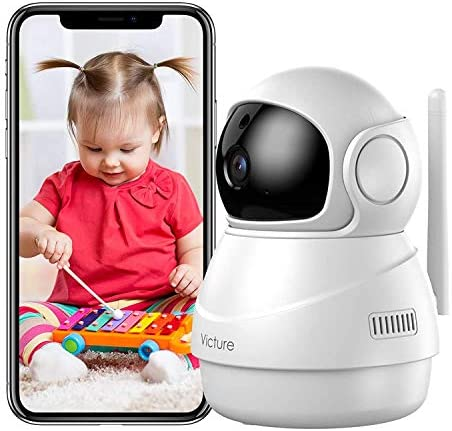 Baby Monitor, Victure 1080P HD Pan/Tilt Camera, Motion Tracking & Sound Detection, 2.4G WiFi Home Security Camera Indoor IP Surveillance Pet Camera with Night Vision, 2-Way Audio
