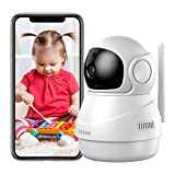 Victure Home Camera, 1080P Wireless Security Wi-Fi Camera Indoor, Sound Detection, Motion Tracking, Motion Detection, Two-Way Audio, Night Vision, Cloud Storage, SD Card Storage, Pan/Tilt