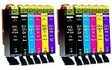 12 Cartucce Per Stampante XXL compatibile con Canon PGI-580 CLI-581 per Pixma TS8100 TS8150 TS8151 TS8152 TS8200 TS8250 TS8251 TS8252 TS8300 TS8350 TS8351 TS8352 TS9100 TS9150 TS9155