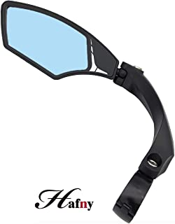 Hafny New Handlebar Bike Mirror, HD,Blast-Resistant, Glass Lens, HF-MR095