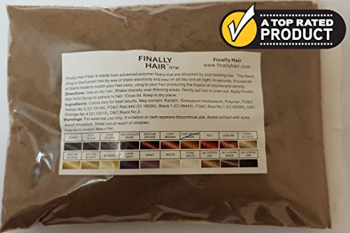 Hair Building Fibers 57 Grams. Highest Grade Refill That You Can Use for Your Bottles From Competitors Like Toppik?, Xfusion?, Miracle Hair? (Light Medium Brown - our lightest brown shade))