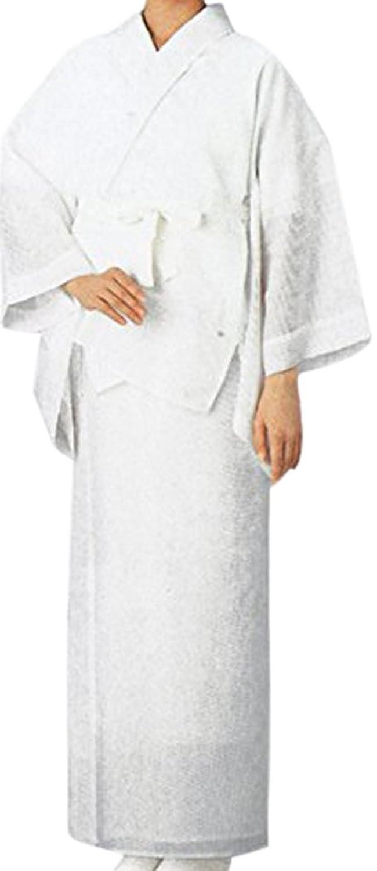 女性夏用長襦袢 二部式 特寸S?LLサイズ フォーマルから普段着まで夏用着物の絽の白袖、裾除け、絽の白半衿付き家庭で洗える襦袢 特小、特大