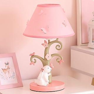 VGGV Children Cartoon White Rabbit Table Lamp Princess Room Bedside Fabric Desk Lamp Girls Bedroom Decor Lighting Fixtures
