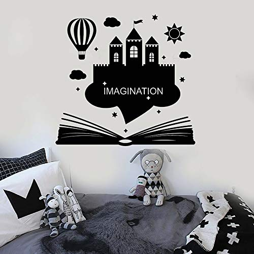 zhuzhuwen Egypte Muurstickers, Imagin Book Castle Home, Familie Vakantie Decoraties Vinyl