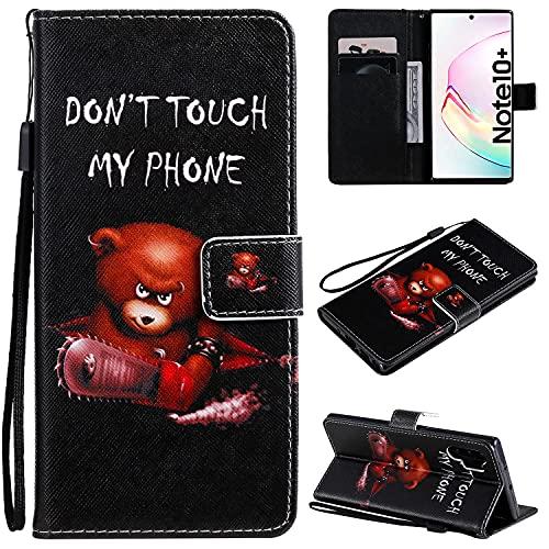 nancencen Compatible with Handyhülle Samsung Galaxy Note 10+ / Note 10 Plus 5G, Brieftasche Flip-Hülle PU Leder Handytasche - Praktisches Design mit Magnetverschluss Standfunktion