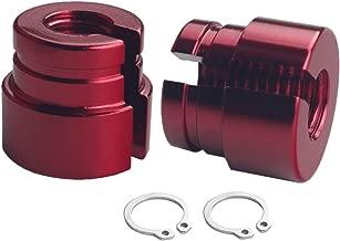 DEWHEL Billet Aluminum Throttle Bushings Compatible With BMW E30 E34 E28 E39 E36 M20 M30 M50 S14 M60 (Red)