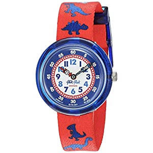 Flik Flak Kids' Quartz Polyester Strap, Red, 14 Casual Watch (Model: ZFBNP117)