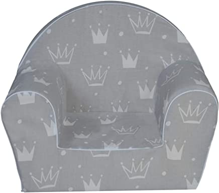 MuseHouse Childrens Chair Armchair Children Room Sofa Seat Stool Kids Toddlers Childs Sofa seat  GRAY-MHF127