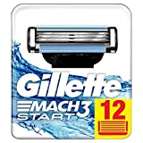 Gillette Mach3 Start Lames de Rasoir Homme, Pack de 12 Lames de Recharges [OFFICIEL]