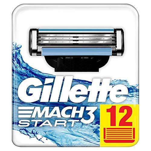 Gillette Mach3 Start Lames de Rasoir Homme, Pack de 12...