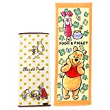 ディズニー くまのプーさん フェイスタオル&ジュニアバスタオル 2種セット(クラシックプー フレンズシーン ホワイト・クローバーパターン オレンジ)