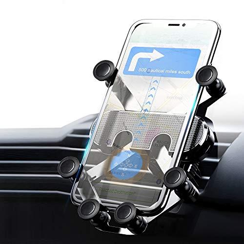 MEMUMI Universal Cellphone Car Air Vent Phone Holder Mount, Soporte de Celular para Auto, Soporte Magnético de Coche 360 Grados Giratorio Car Stand para iPhone 12 Pro MAX 11 Menos de 7 Pulgadas