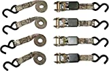 RPS Outdoors SI-2067 Mossy Oak Break-Up Infinity Camo 1' x 8' Ratchet Tie Down Straps (900 lb Tension Strength), 4 Pack