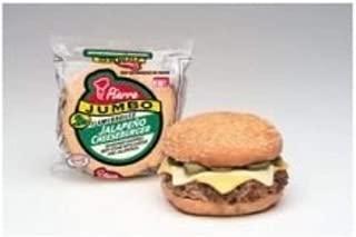 Advance Pierre Jumbo Jalapeno Cheeseburger, 6.65 Ounce -- 12 per case.