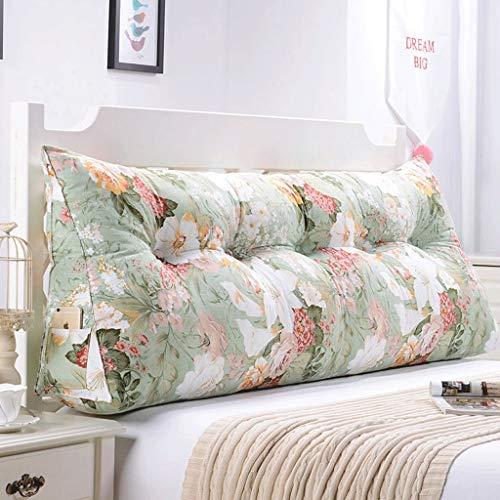 LIPENLI Volver doble Sofá Cabecera Soft Pack de tatami cama almohada lumbar de la almohadilla del amortiguador de la cintura (color: L, Tamaño: 135 cm)