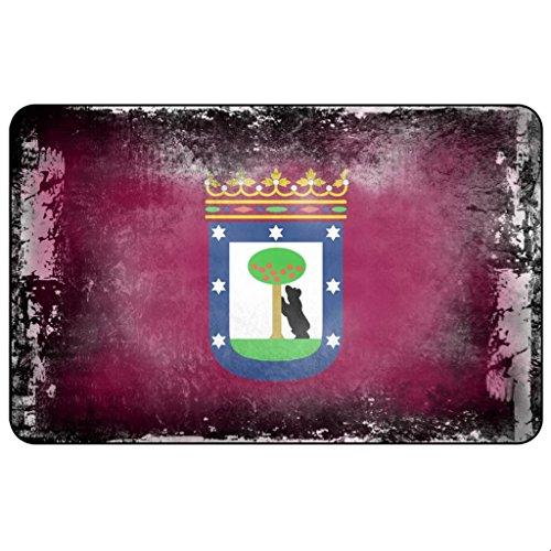 Cadora Magnetschild Kühlschrankmagnet Flagge Madrid shabby chic abverwendet used look