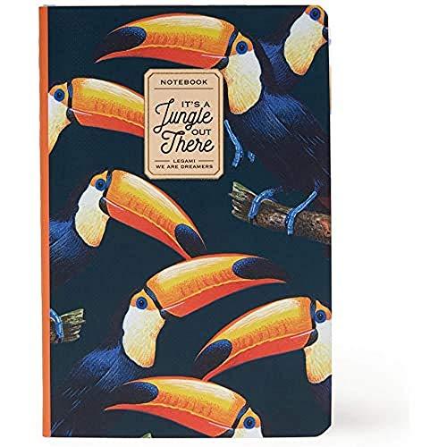Legami A6NOT0018 – Cuaderno de rayas, pequeño, multicolor (Toucans)