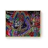 WuChao丶Store Ácido psicodélico LSD Lienzo Arte impresión Pintura póster Cuadros de Pared para la decoración de la Sala de Estar decoración del hogar 50x70 cm W-747