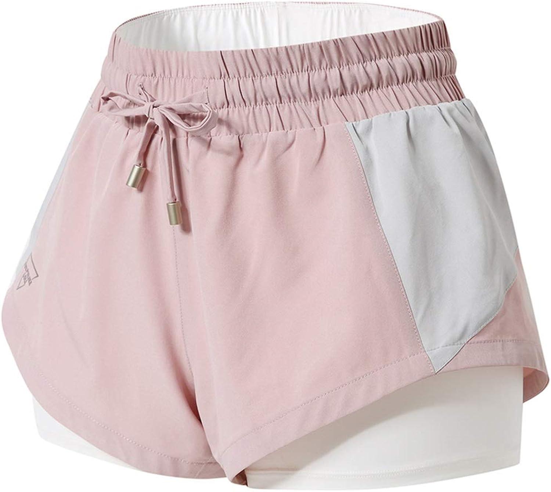 Women 2 in 1 Yoga Fitness Shorts Quick Dry Breathable Marathon Gym Shorts Running Jogging Sports Shorts Plus Size Shorts