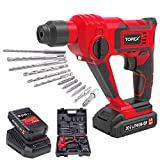 TOPEX 20V Max Lithium Cordless Rotary Hammer Drill Kit w/Battery Charger Bits