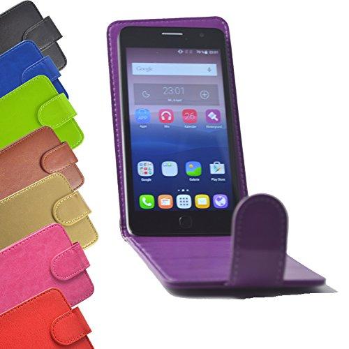 Flip 2 in 1 set Tasche für Hisense Sero 5 Slide Kleber Hülle Case Cover Schutz Bumper Etui Handyhülle in Lila