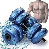 SCXLF Viajes Pesas Ajustables Agua Rellenable Pesas Fijado, 2 Unids/Set Portátil Ajustable Mancuerna Llena De Agua para El Entrenamiento Muscular del Brazo En El Gimnasio En Casa