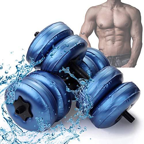 Ycrdtap Sport Befüllen Befüllbare Hanteln, Hantel Einstellbare Wassergefüllte Anti-Leck-Kurzhanteln Für Home Training Gewichtheben Training Reisen Männer Und Frauen