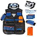 LVHERO Veste de Rangement Gilet Tactique Enfant Trousse for Nerf Guns N-Strike Blaster Elite / Mega...
