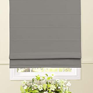 Artdix Roman Shades Blackout Window Shades - Taupe 20.5 W x 36L Inches Fabric Custom Solid Lined Roman Shades Blinds for Windows, Doors, French Doors, Kitchen Windows