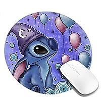 丸型 マウスパッド スティッチ ゲーミングマウスパッド パソコン 周辺機器 光学式マウス対応 オフィス自宅兼用 防水 洗える 滑り止め 高級感 耐久性が良い 20*20cm
