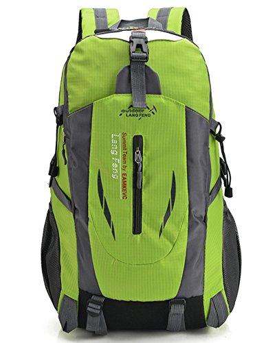 beibao shop Backpack Sacs à Dos pour Ordinateur Portable Homme Femme Casual Épaule Extérieur Escalade Multi-Fonctionnel Sac à Dos d'ordinateur, Green