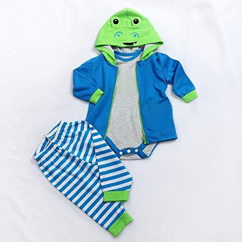 MineeQu 5 Estilos Diferentes Dos tamaños 47 o 60 CM Muñecas recién Nacidas Vestido Reborn Baby Doll Toda la Ropa de algodón