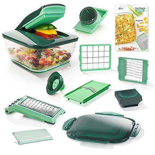 NICER DICER DICERCHEF01 La nueva versión Chef para aún más diversión cocinando sana y rápidamente, color verde