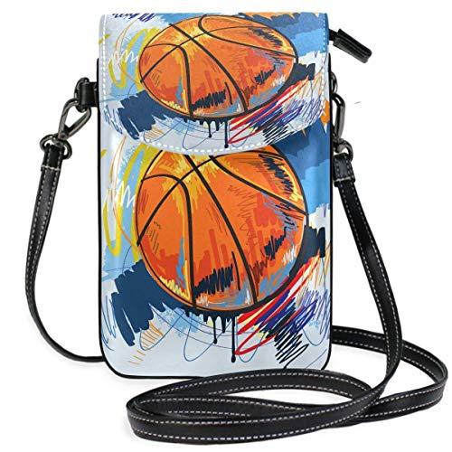 Teléfono celular monedero de baloncesto pequeño bolso de teléfono celular monedero para mujeres niñas