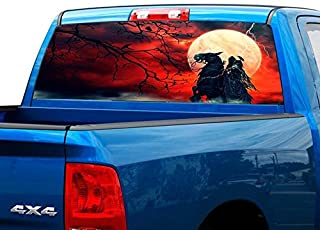 P463 Grim Reaper Tint Rear Window Decal Wrap Graphic Perforated See Through Universal Size 65