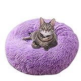 Vejaoo Cama De Gato/Perros Extra Suave Cómodo Sleeping Sofa Cama De Felpa para Cachorros y Perros XZ007 (Diameter:70 CM, Purple)
