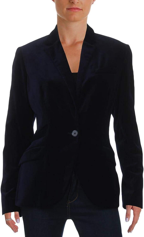 Lauren Ralph Lauren Womens DROSOM Velvet Long Sleeves OneButton Blazer