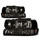 Best Headlights - DNA Motoring HL-OH-CS99-4P-SM-AB Smoke Lens Headlights Replacement For Review