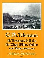 TELEMANN - Trio Sonata en Si Mayor (TWV:42/b 1) para Oboe, Violin y BC (Partitura/Partes)